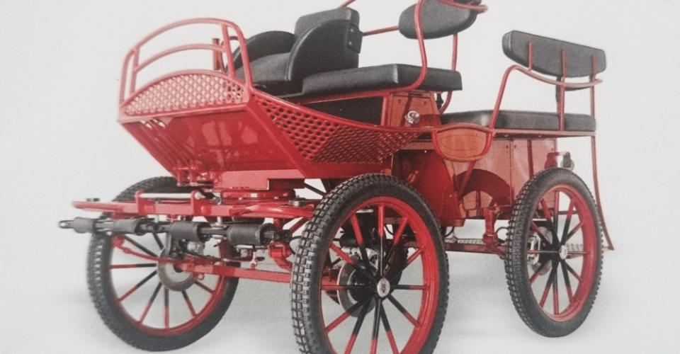 Treningswagen  Carriage Red - Drayhorse Shires Australia