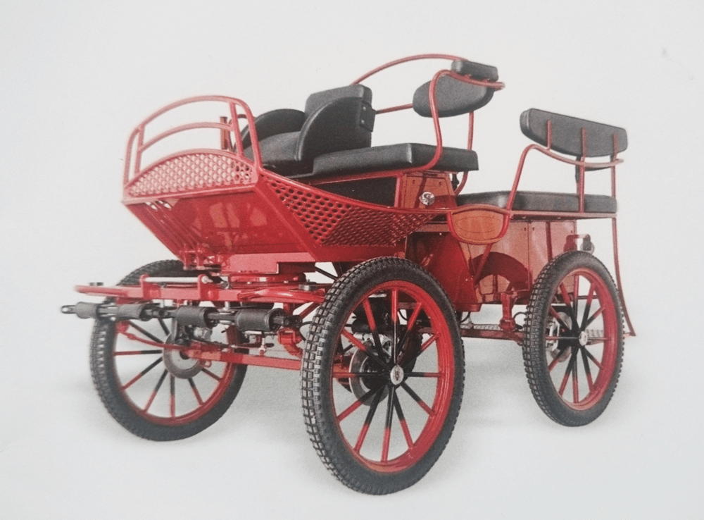 Treningswagen  Carriage Red - Drayhorse Shires Australia
