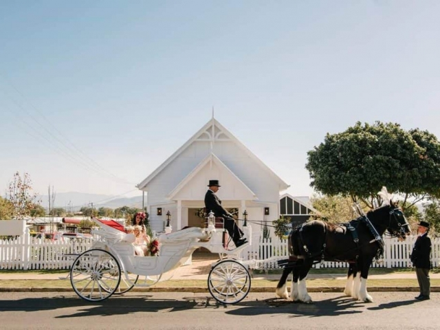 White Chapel Wedding - Vis A Vis - Drayhorse Shires Australia